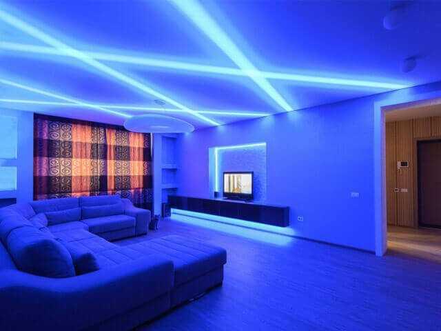 Парящие (светящиеся) натяжные потолки