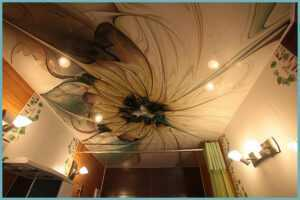 Как мыть натяжной потолок?