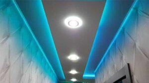 Парящие (светящиеся) натяжные потолки Москва