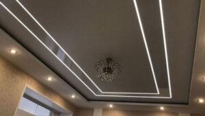 Натяжные потолки со световыми линиями в СПб