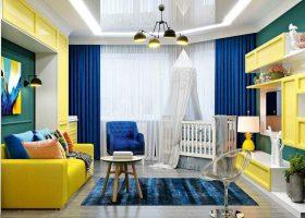 Красивые матовые натяжные потолки в гостиной фото в Санкт-Петербурге